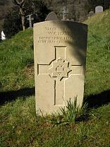 CWGC gravestone for Sergeant WC Hayes  © Exmoor National Park Authority