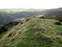 Cleared section of rampart of Wind Hill from the north, 2009  © Exmoor National Park Authority