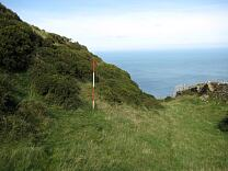 Ditch and rampart north of entrance of Wind Hill from the south, 2009  © Exmoor National Park Authority