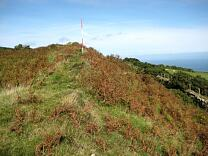 Southern rampart section of Wind Hill from the south, 2009  © Exmoor National Park Authority