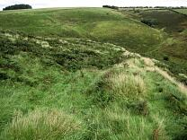 Southern rampart of Cow Castle from the west, 2009  © Exmoor National Park Authority