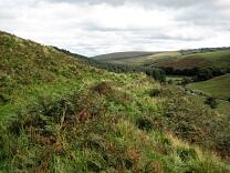 Western rampart of Cow Castle from the north, 2009  © Exmoor National Park Authority