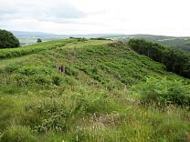 Southern side of Grabbist Hillfort from the west, 2009  © Exmoor National Park Authority