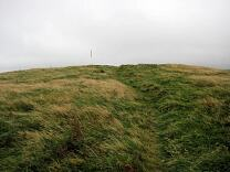 Inner rampart of Martinhoe Roman Fortlet from west, 2009  © Exmoor National Park Authority