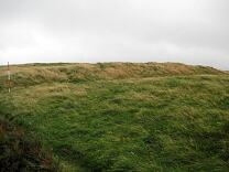 Western outer rampart of Martinhoe Roman Fortlet from northwest, 2009  © Exmoor National Park Authority