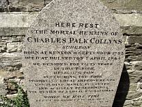 Gravestone to Charles Palk Collyns, All Saints Churchyard  © Exmoor National Park Authority