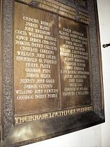World War One memorial, All Saints Church  © Exmoor National Park Authority