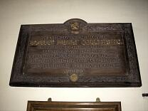 Robert Henry Collyns memorial plaque, All Saints Church  © Exmoor National Park Authority