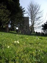 Church of All Saints and Churchyard from Lady Street, 2014  © Exmoor National Park Authority