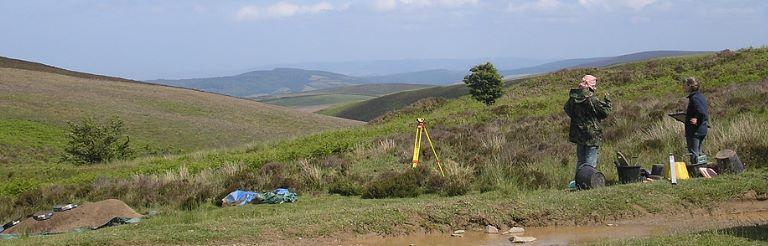 Excavations at Hawkcombe Head in July 2013 as part of 'Dig Porlock'; © ENPA 2013