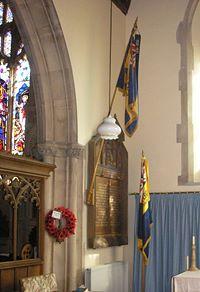 War memorial group at Dulverton Church.